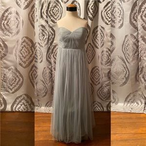 Sage Green Jenny Yoo Strapless Dress (Size 10)